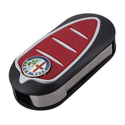 2018 1 Uds Super 3 Botones Control Remoto Llavero Blade Case para Alfa Romeo Mito Giulietta GTO 159 Llavero Carcasa de Llave de Coche Zk30 Rojo