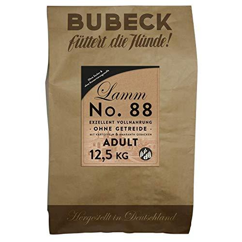 Bubeck Hundefutter | mit Lamm und Kartoffel | Hundefutter getreidefrei | Single Protein Lammfleisch | Vollnahrung für futtersensible Hunde Aller Rassen (Lamm, 12,5 Kg)