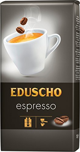 Eduscho Espresso Kaffee | Hochwertiger Kaffee aus ganzen Bohnen im 1000g Beutel | Ideal für Kaffeevollautomaten | Toller Geschmack von Eduscho