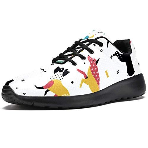 Imobaby Scarpe sportive da corsa per donne che giocano a cane alla moda scarpe da ginnastica in mesh traspirante camminata escursionismo tennis scarpe, Multicolore (Multicolore), 36.5 EU