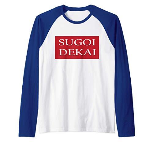 Sugoi Dekai Halloween Shirt Anime Raglan Baseball Tee
