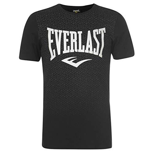 Everlast - Camiseta de cuello redondo para hombre, con estampado geométrico Negro...