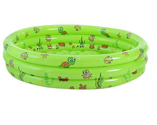 ZIXING Fashion Aufblasbare Pool,130 cm Groß Planschbecken für Kinder Erwachsene Baby, Family Pool Schwimmbecken Runder Swimmingpool rund Babypool, für Alter 3+ Grün One size