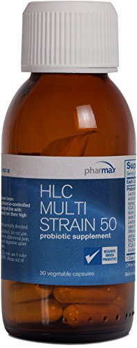 Pharmax - HLC Multi Strain 50 - Probiotic Supplement to Support Gut Flora - 30 Capsules