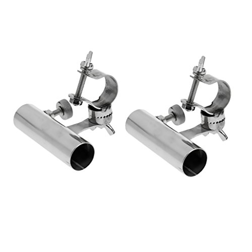 Edelstahl Angelrutenhalter für Reling Montage Durchmesser 2,5cm