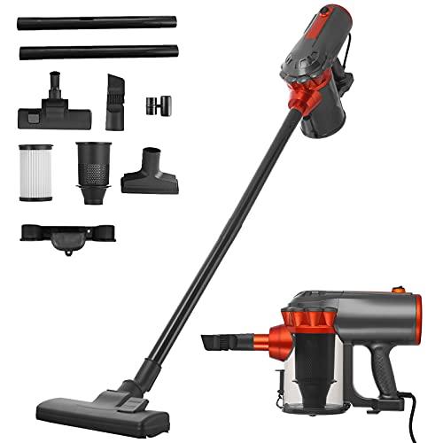 Farsaw Stick Vacuum Cleaner 18KPa Powerful Suction, 1.5L High-Capacity HEPA Filter, 4 in 1 Corded Handheld Vac for Hard Floor Carpet Pet Hair