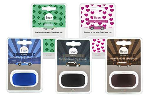 Fra-Ber profumatore Deodorante per Auto Bean Set da 5pz Balance Glamour Classic Casual Sporty