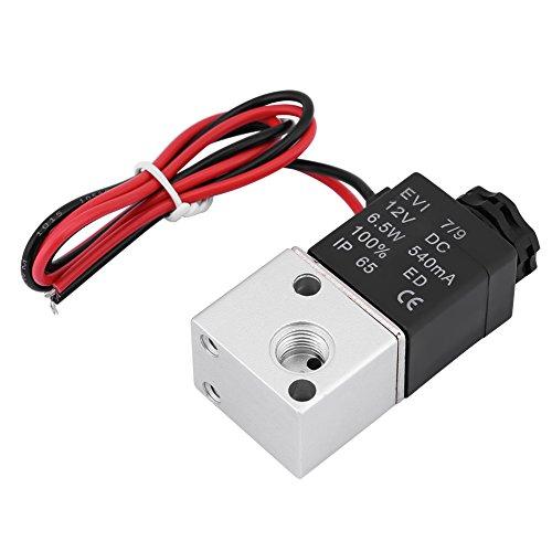 Yunnyp elektrisch ventiel gesloten 3v1-06 3 richtingen 2 posities 1/8 bsp elektrisch ventiel banden normaal gesloten (Cc 12v / 24V), DC12V, Zoals getoond, 1