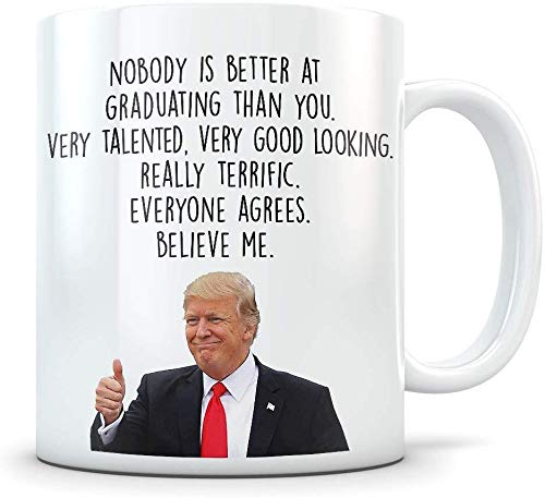 Nobody Is Better At Graduating Than You Coffee Mug - 11Oz White Gift For Son Daughter Friend Brother Sister Lover In Christmas Birthday Easter Thanksgiving Independence Day Halloween Valentine's Day