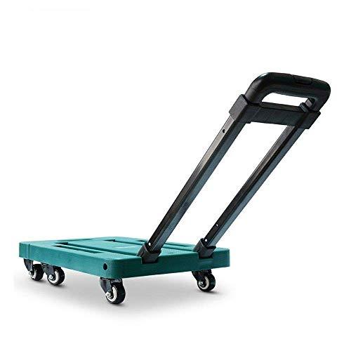YLDXP Carro plano de seis ruedas para remolque pequeño, plegable, portátil, para el hogar, equipaje (color: azul, tamaño: 4)
