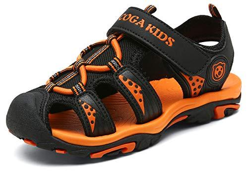 Juneau Niños Sandalias Deportivas Sandalia para Trekking Verano Zapatillas de Deporte al Aire Libre Zapatos Playa Antideslizantes Negro 37 EU