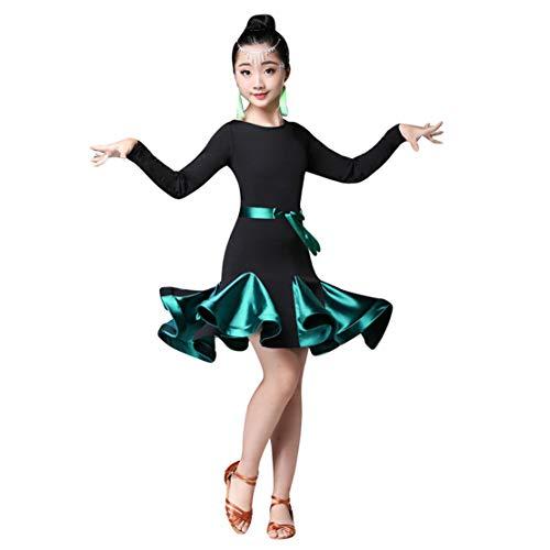 Mädchen Latin Dance Kleid Salsa Rumba Tango Kostüm Kinder Tanzkleidung Modern Performance Wettbewerb Dancewear