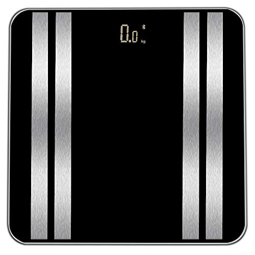Yuege Bluetooth Body Fat Scales, Digital Weight Bathroom Scales, High Precision Weighing Scale for Body Composition Analyzer, Smart APP for Body Weight&Fat, BMI, Muscle Mass 28st/180kg/400lb