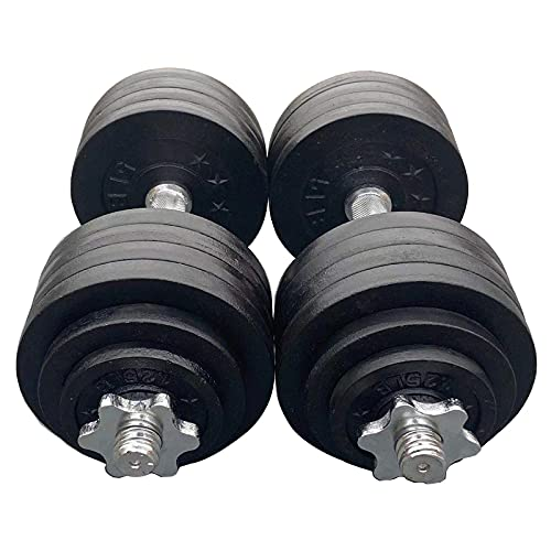 Unipack One Set of 2x52.5Lbs Adjustable Weight Dumbbell Cast Iron...