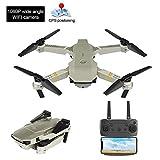 Top-element Drone Pliable avec Caméra HD 4k / 1080P / 720P, Quadricoptère RC avec Maintien en Altitude, Drone sans Tête RC Télécommande Avion Live WiFi Volant Photographie Aérienne