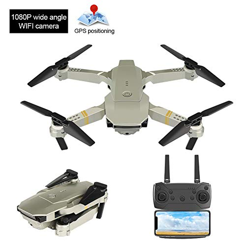 jerry RC Drone, Mini Quadcopter de Control Remoto, fotografía aérea de Alta definición, 3D helicóptero de Control Remoto Plegable Giratorio con giroscopio de 6 Ejes y 4 Motores