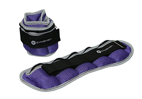 GYMENIST Ankle and Wrist Weights Adjustable Size The Weight Can Also Be Adjusted (2 - LB)