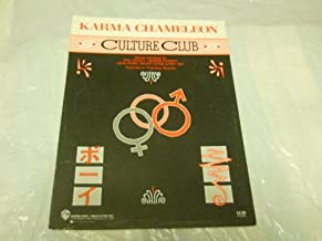 KARMA CHAMELEON CULTURE CLUB 1983 SHEET MUSIC FOLDER 572