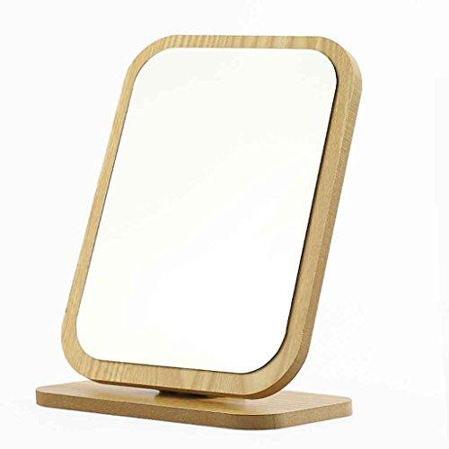 Miroirs Clair De Bureau en Bois Pliant Portable Table Table Dortoir Simple Simple Cosmétique (Couleur : B)