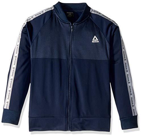 Reebok Jungen Delta Trainingsjacke, Jungen, Jacke, Delta Track Jacket, Marineblau, 10-12