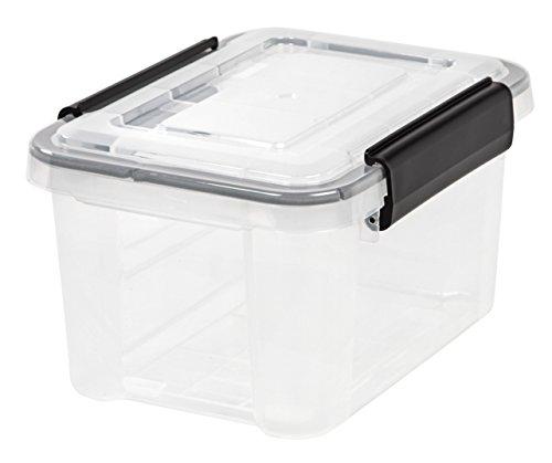 IRIS 6.5 Quart WEATHERTIGHT Storage Box, Clear