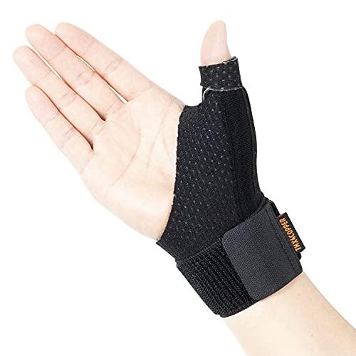 Thx4COPPER Reversible Stabil Leicht Daumenorthese,Kompression Daumenstütze,Daumensattelgelenk,Daumenschiene für BlackBerry Daumen,Sehnenentzündung,Arthritis,Daumenschutz,Daumenbandage - S/M