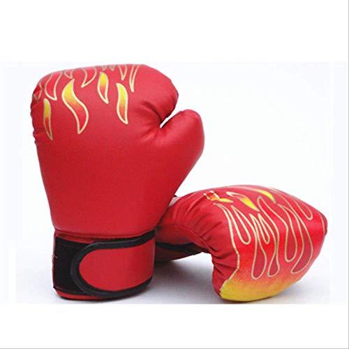 HEEHEE 3-12 años Guantes de Boxeo para niños MMA Karate Kick Boxing Luva De Boxe Equipo de Boxeo Juego de Boxeo de LlamaRojo
