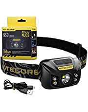Nitecore NU32 Head Torch - USB Rechargeable - LED Super Bright 550 Lumens With Red Light IP67
