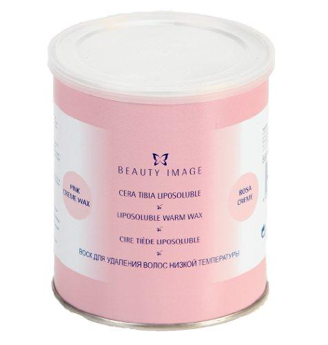 BEAUTY IMAGE Warmwachs Haarentfernung, Wachsdose für Gesicht und Körper 800g (Pink)