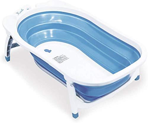Duvo+ Faltbare Badewanne für Hunde und Katzen 22,5x47x82 HxBxL blau/weiß