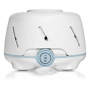 Yogasleep Dohm (White/Blue) | The Original White Noise Machine | Soothing Natural Sound from a Real Fan | Noise Cancelling | Sleep Therapy, Office Privacy, Travel | For Adults & Baby | 101 Night Trial