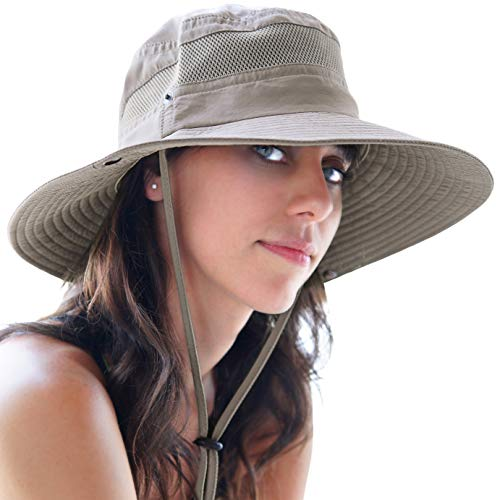 GearTOP Fishing Sun Hat Safari Cap with Sun Protection for Men and Women, (Khaki)