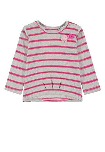 TOM TAILOR Kids Baby-Mädchen Striped T-Shirt, Beige (Lunar Rock Melange 8439), (Herstellergröße: 80)