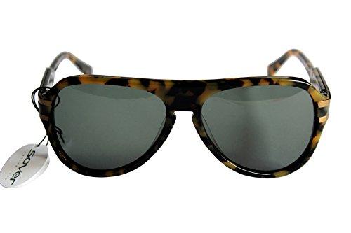 Missoni SOVER MCK011 unisexo gafas de sol tortuga negro oro marco plástico negro lente UV alta protección antideslumbrante CAT 3