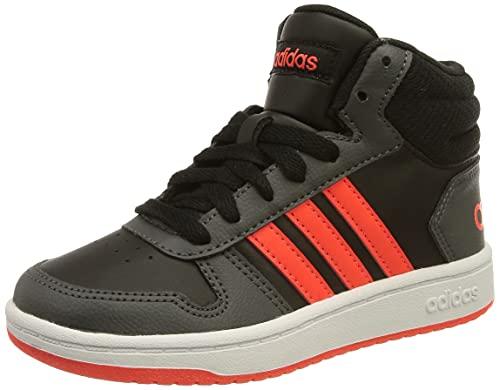 adidas Hoops Mid 2.0, Basketball Shoe, Schwarz Rot Grau Negbás Rojsol Grisei, 36 2/3 EU