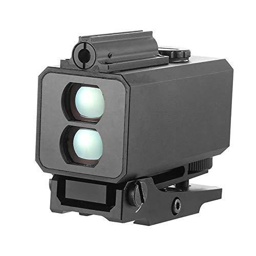 BYBYC Mini Infrarot-Zielfernrohr-Entfernungsmesser für die Jagd Aufnahmeabstand Winkelgeschwindigkeitsmesser Tactical Rifle Mounted,Schwarz