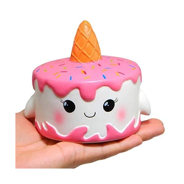 YXJC Fun Toys Squishies, Kawaii Unicorn Cake Squishy, Creamy Aroma Slow Rising Squeeze Toys for Boys and Girls Gifts (Color : 10cm) 3
