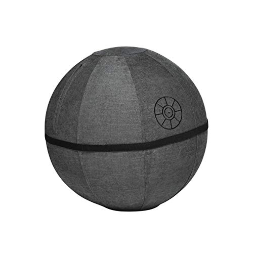 Yogibo Death Star Star Wars Ergonomic Balance Ball Chair for Home and Office Desk, Exercise Yoga Office Ball Chair, Star Wars Stability Sitting Ball Chair