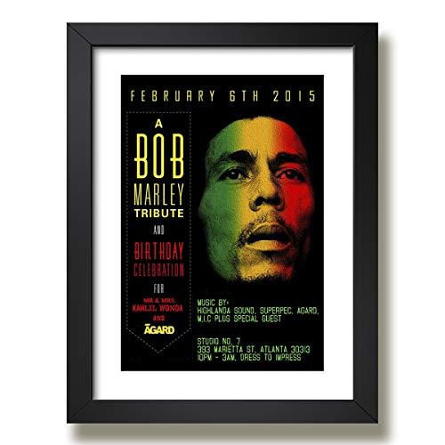 Quadro Bob Marley Musica Banda Reggae Pop Decoracao Moldura Paspatur Pronto para Pendurar