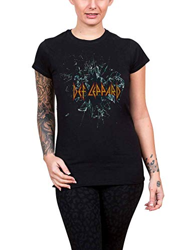 Ladies Def Leppard Album T-shirt with Shatter Graphic, Sizes 10 to 16