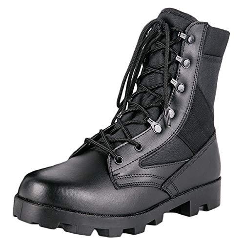 Botas tácticas para hombres Botas militares Botas de combate para el desierto Zapatillas de deporte para exteriores Zapatillas de deporte ligeras y transpirables de verano para hombres,Black-36