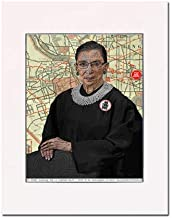 Ruth Bader Ginsburg, Notorious RBG, U.S. Supreme Court, Washington, D.C. Fine Art Print. Gallery Quality. Matted at 11 inches x 14 inches and Ready to Frame.
