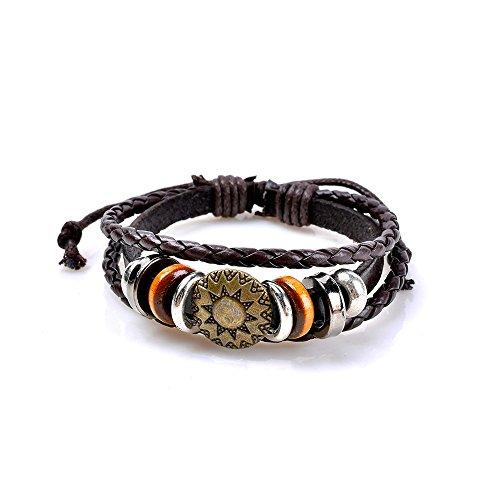 Qiuday Surfer Armband - Strandschmuck - lässig - Armband - Armreif - Textilarmband - Freundschaftsarmband - Bracelet - Sommertrend - Herren Armband - Damen Armband - cool - Après-Ski