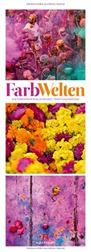 FarbWelten - Eine farbenfrohe Reise um die Welt - Triplet-Kalender 2020 im Hochformat (24x66 cm) - Farbenprächtige Bildkompositionen
