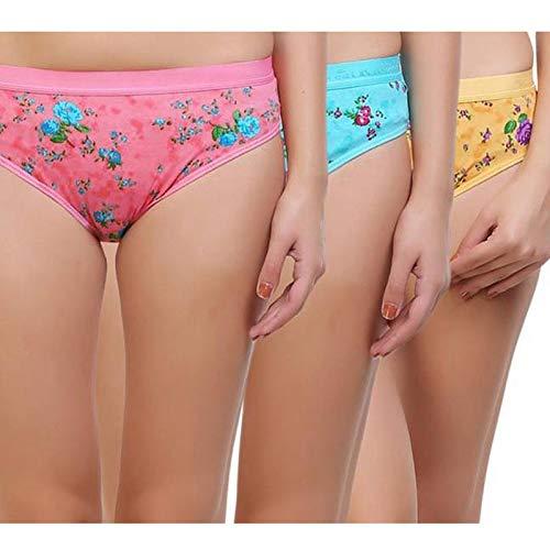 Girls in panties picts Show Time Women S Girls Panties Flower Printed Ragular Women Girls Panty Pack Of 3 Amazon In Clothing Accessories