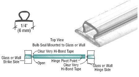 CRL Translucent Vinyl Bulb Seal 7/32' Gap - 98 in long - 5 Pack