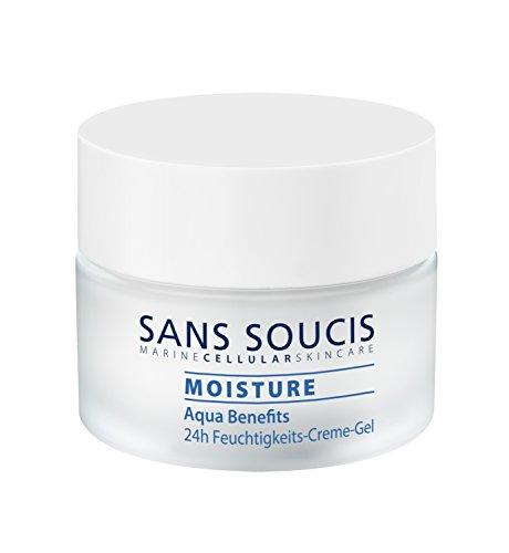Sans Soucis Moisture Aqua Benefits 24h Feuchtigkeits-Creme-Gel: Gesichtspflege mit Hyaluronsäure...