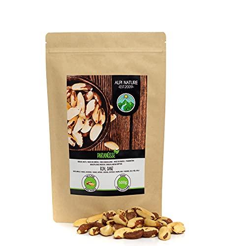 Nueces de Brasil (500g), nueces de Brasil sin sal y naturales, nueces de Brasil enteras de cultivo controlado