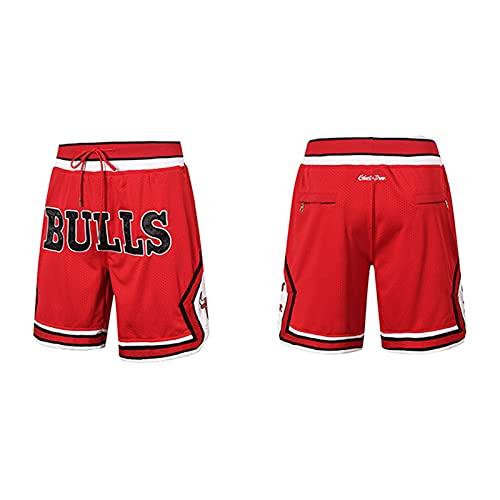 Bulls Basketball Shorts, Pantalones de baloncesto bordados Hip - Hop Loose Street Sports Shorts Cinco - Punto Pantalones Casual Fitness Running Ropa