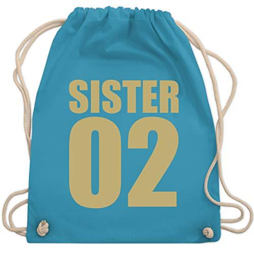 Schwester & Tante - Sister 02 - bunt - Unisize - Hellblau - sister turnbeutel - WM110 - Turnbeutel und Stoffbeutel aus Baumwolle
